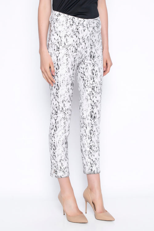 animal print ankle length pant