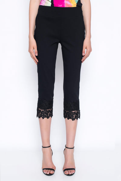 Lace Trim Capri Pants