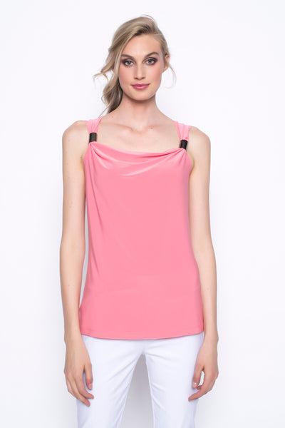 Draped Neck Tank With Buckles
