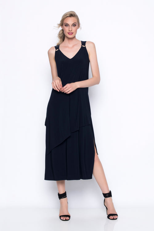 Sleeveless Layered Long Dress