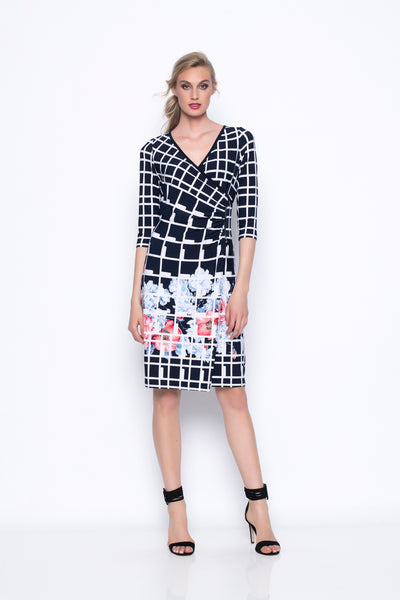 ¾ Sleeve Flared Wrap Dress
