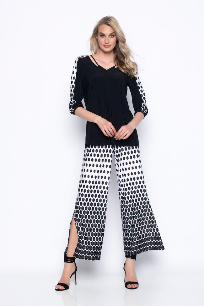 Wide-Leg Pants With Slits
