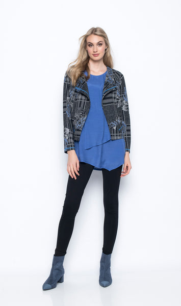 Multi Panel Open-Front Jacket