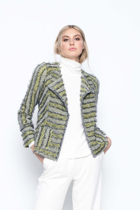 Button-Front Jacket With Fishtail Hem