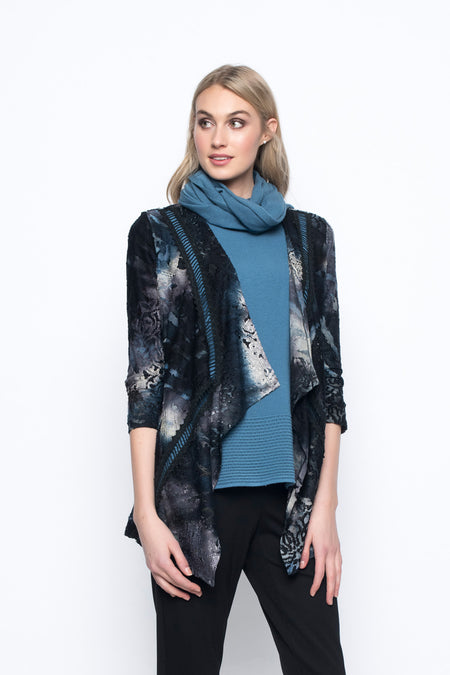 Lace Trimmed Top With Scarf