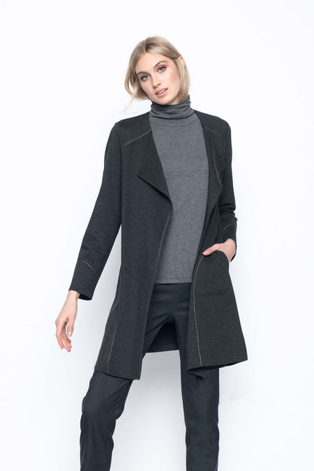 Zip-Front Fur Trimmed Jacket