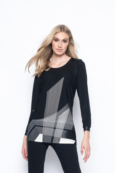 Solid Trimmed Asymmetric Hem Top