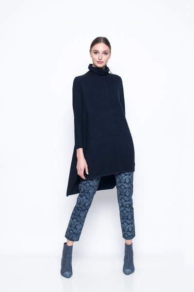 Turtle Neck Tunic With Side Slit