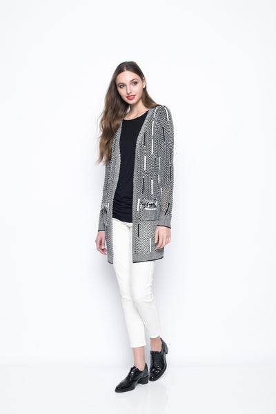 Cardigan With Fringed Pocket
