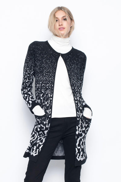 Leopard Pattern Sweater Jacket