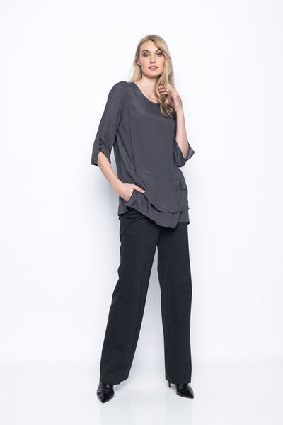 3/4 Sleeve Top With Side Slits