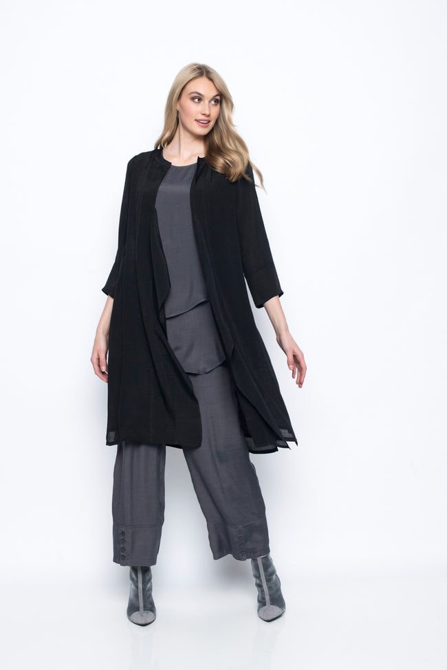 Open-Front Duster Jacket