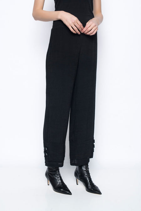 Button Trimmed Pants