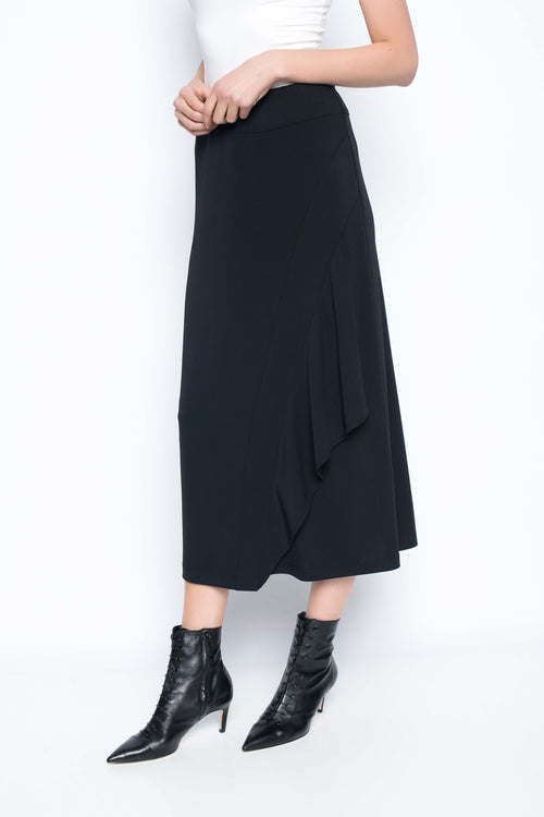 Asymmetrical Long Flounce Skirt
