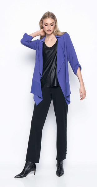 Draped Open Front Jacket