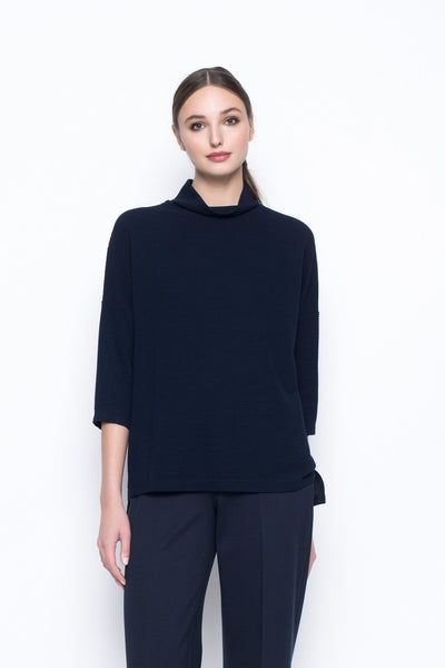 Drop Shoulder Mock Neck Top