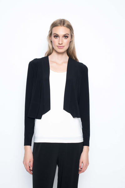 bolero jacket short length in black