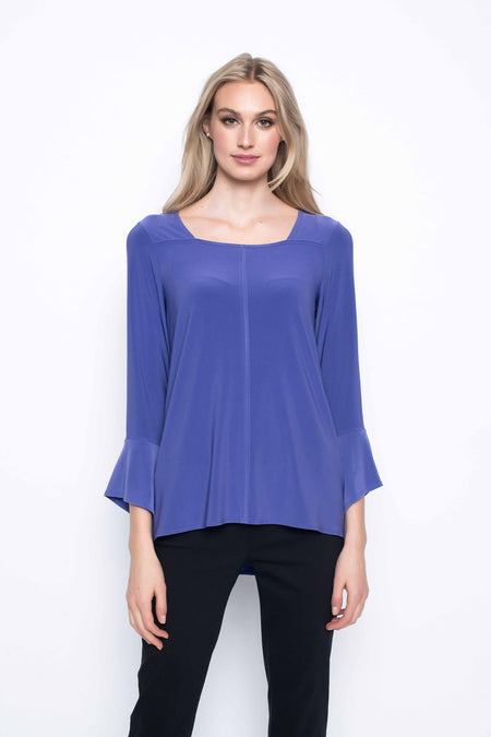 Fabric Combo Top With Drawstrings
