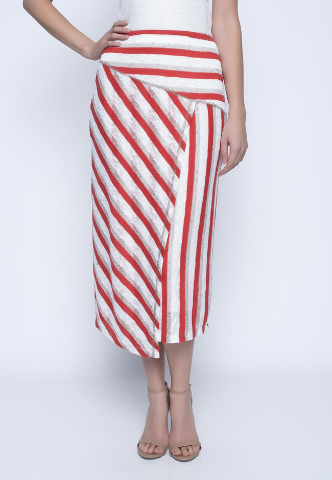 Pull On Long Skirt With Slit