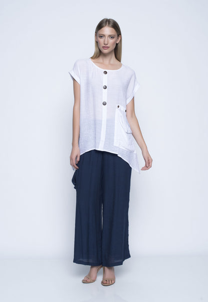 Draped Pocket Top