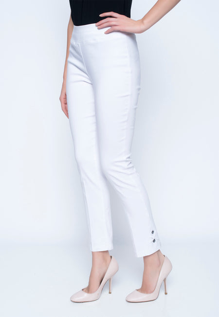 Ankle Pant With Button Detail
