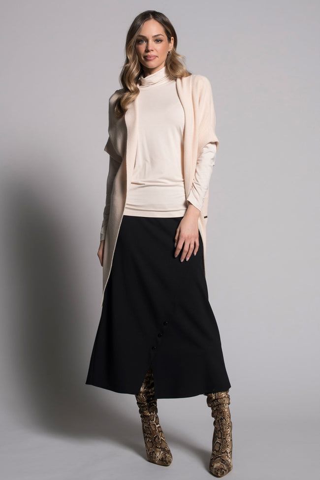 outfit featuring Long Skirt With Buttons by picadilly canada