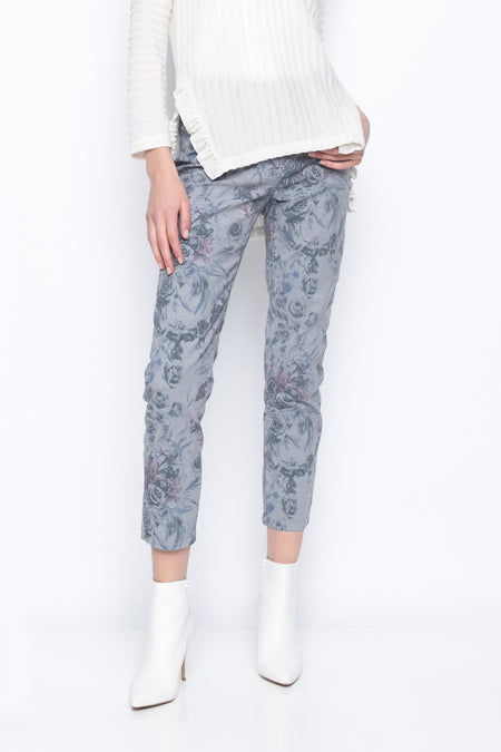 Front Layered Cropped Pants