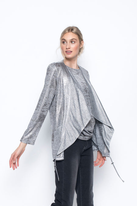 Three Quarter Sleeve Top With Side Ruching