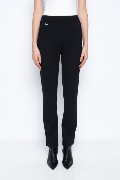 Regular Length Pants With Tab Detail