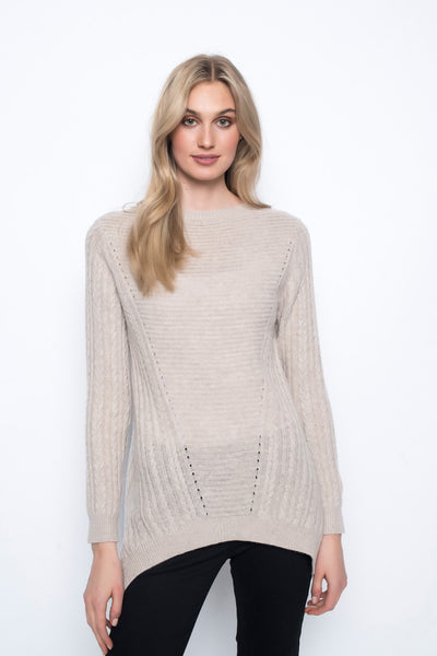Open Knit Overlay Top