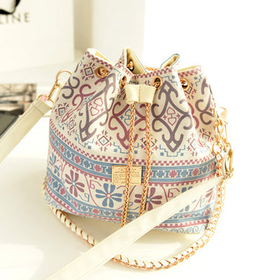 Floral Shoulder Bag With Chain