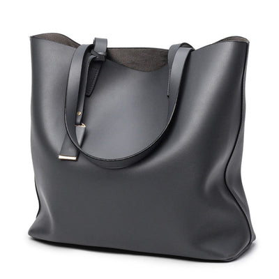 Fashion Smooth Faux-Leather Tote
