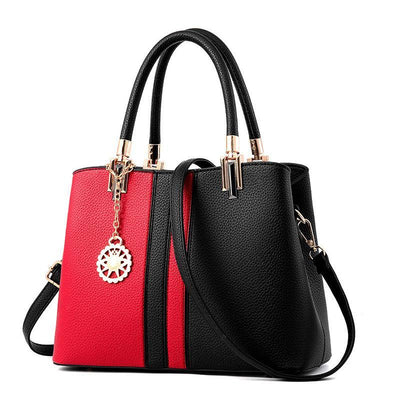 Panelled Leather Shoulder Handbag