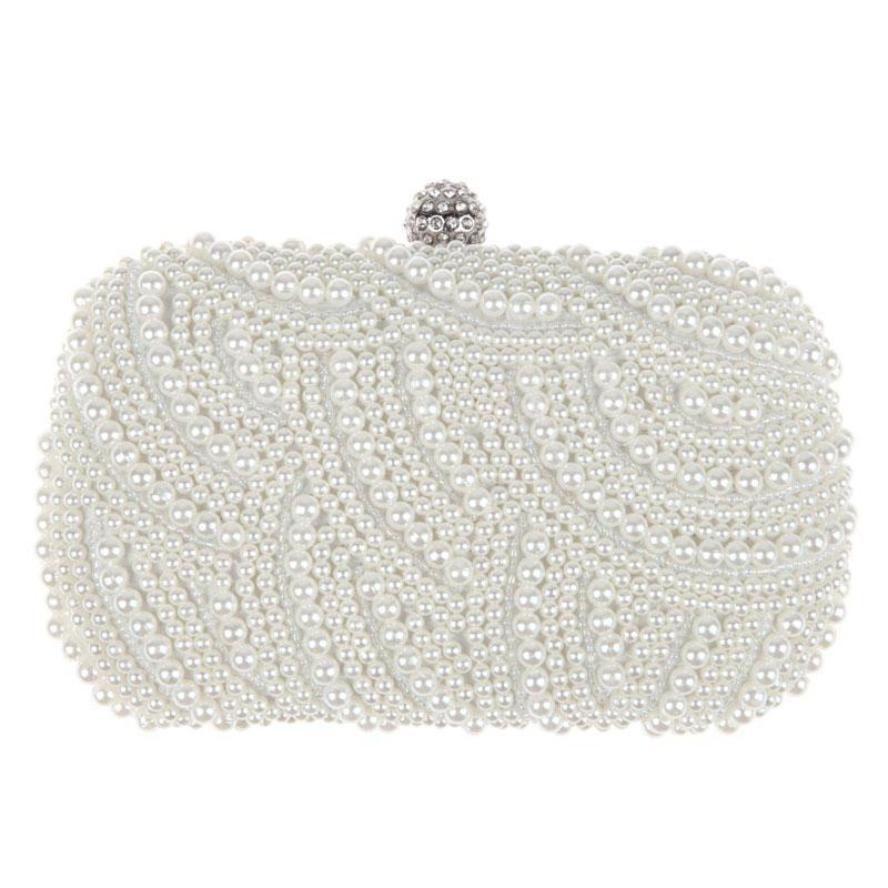 Pearl Beaded Fashion Makeup Clutch