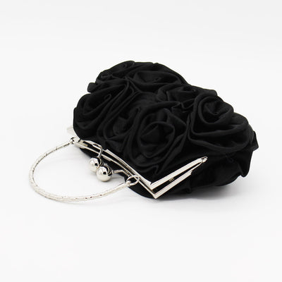Floral Satin Evening Clutch