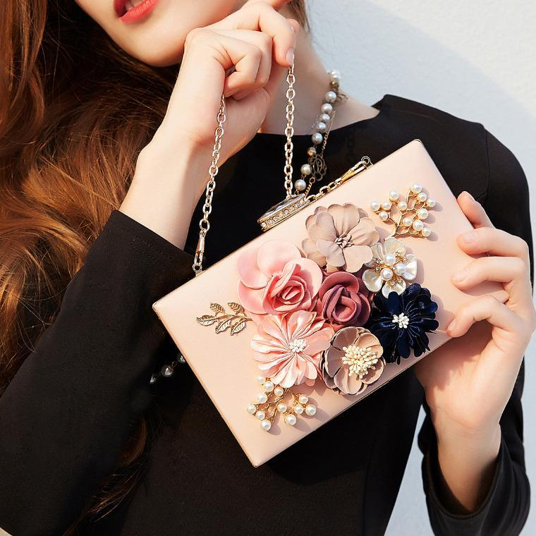 Floral Fashion Box Clutch