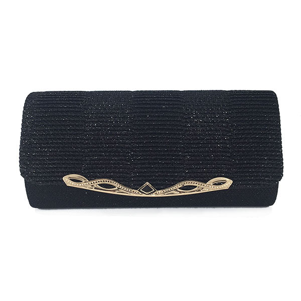 Classic Sequined Minaudiere Evening Clutch