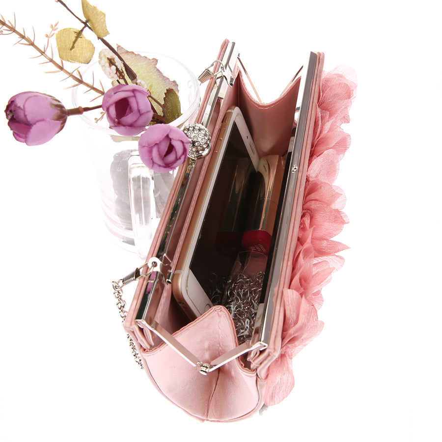 High Fashion Crystal Flower Clutch