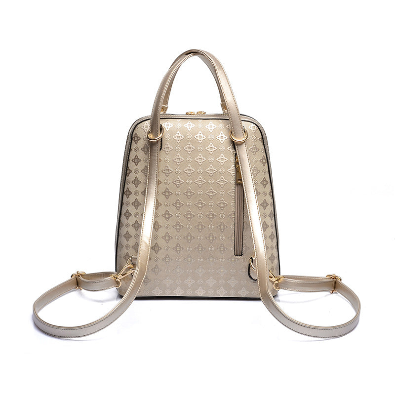 Korean High Fashion Diamond Lattice Backpack