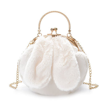 Fluffy Rabbit Shoulder Bag