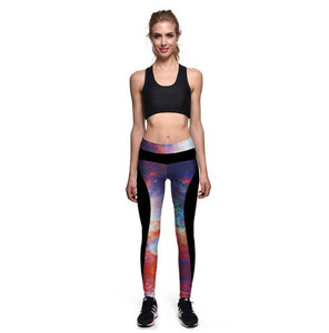 Rainbow Galaxy Legging Spats