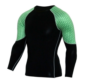 Green Honeycomb Rash Guard - Canadian BJJ Shop