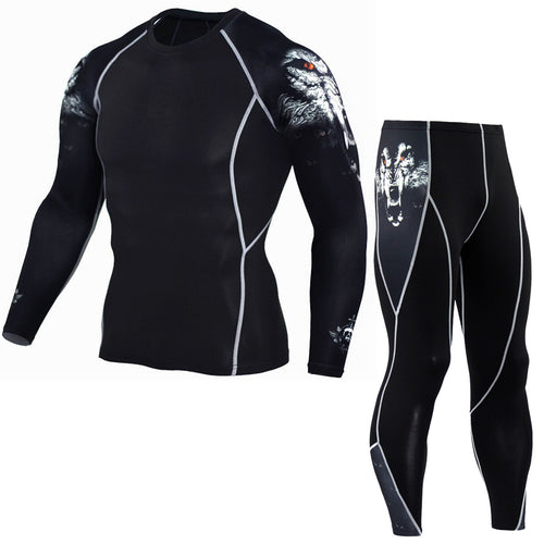 Wolf Compression Two Piece Set - Canadian BJJ Shop