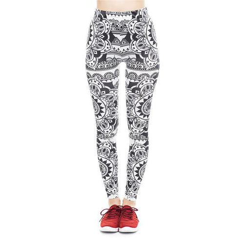 Tribal Flower Legging | High Waisted Spats