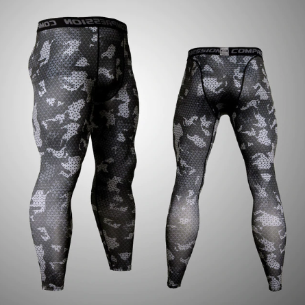 Midnight Camo Performance Spats - Full Length Men's MMA Jiujitsu Leggings