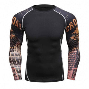 Sunset Skull Rash Guard