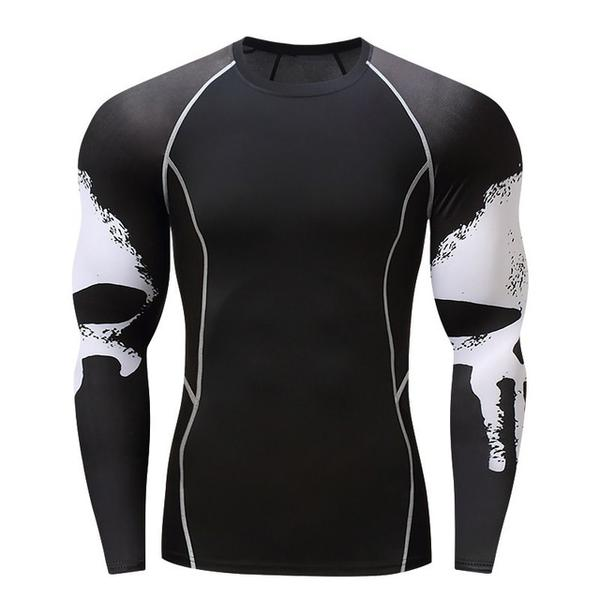 White Skull Performance Rash Guard - Canadian BJJ Shop