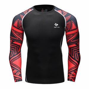 Red Tribal Rash Guard