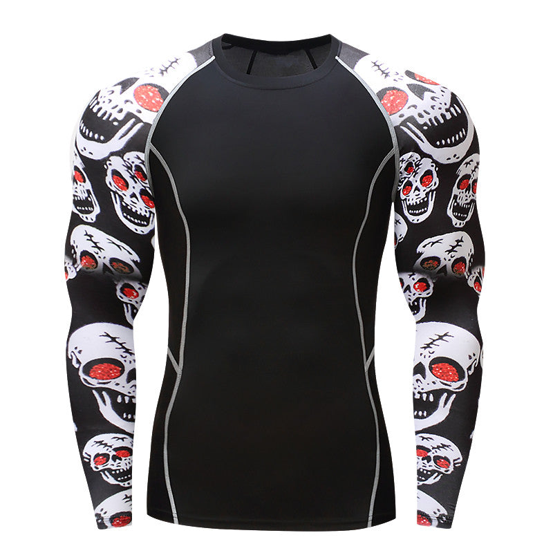 Red Eye Skull Rash Guard - Canadian BJJ Shop