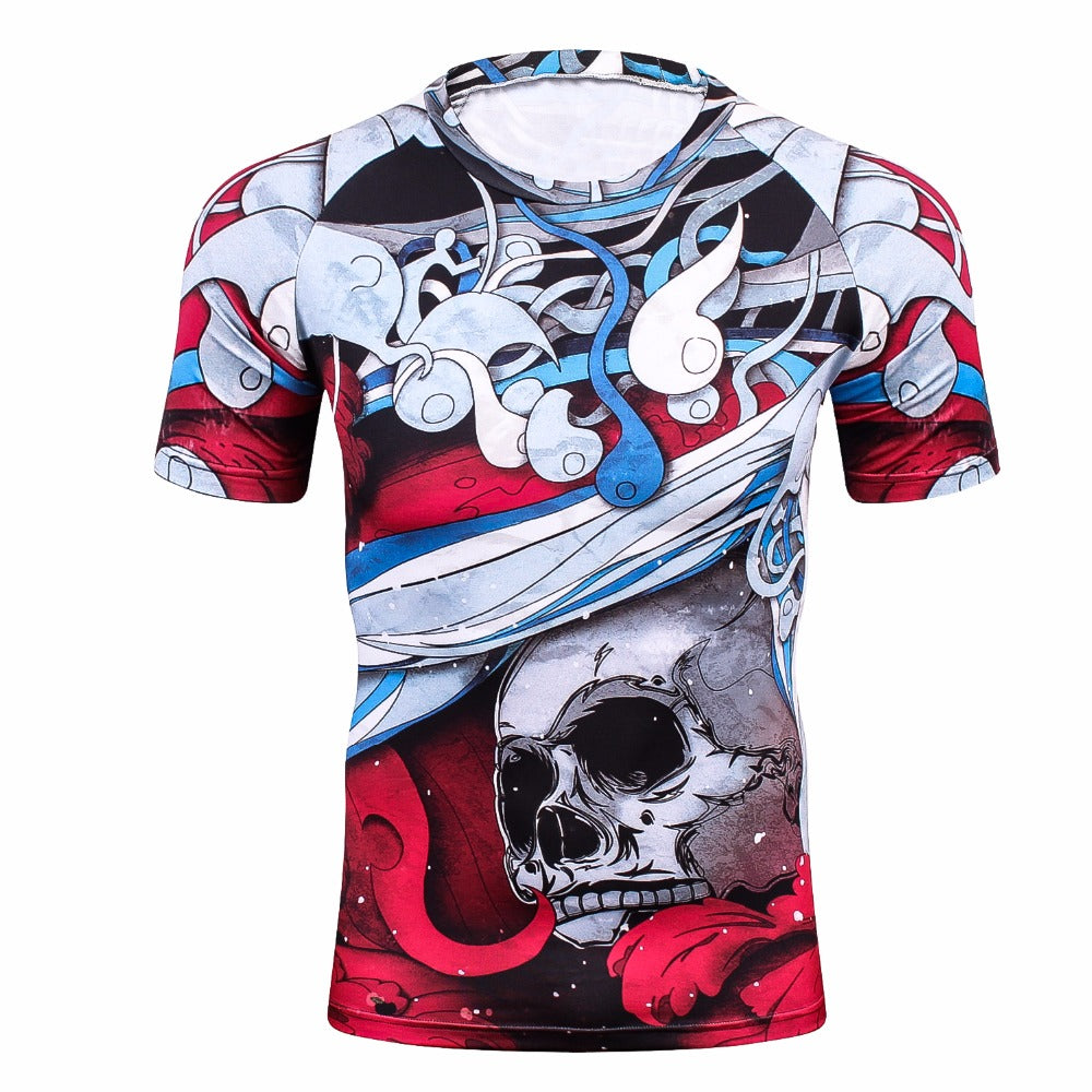 Skull Rash Guard - Canadian BJJ Shop